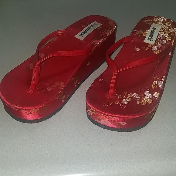 0fcdfde53d4 Asian platform sandals flipflops